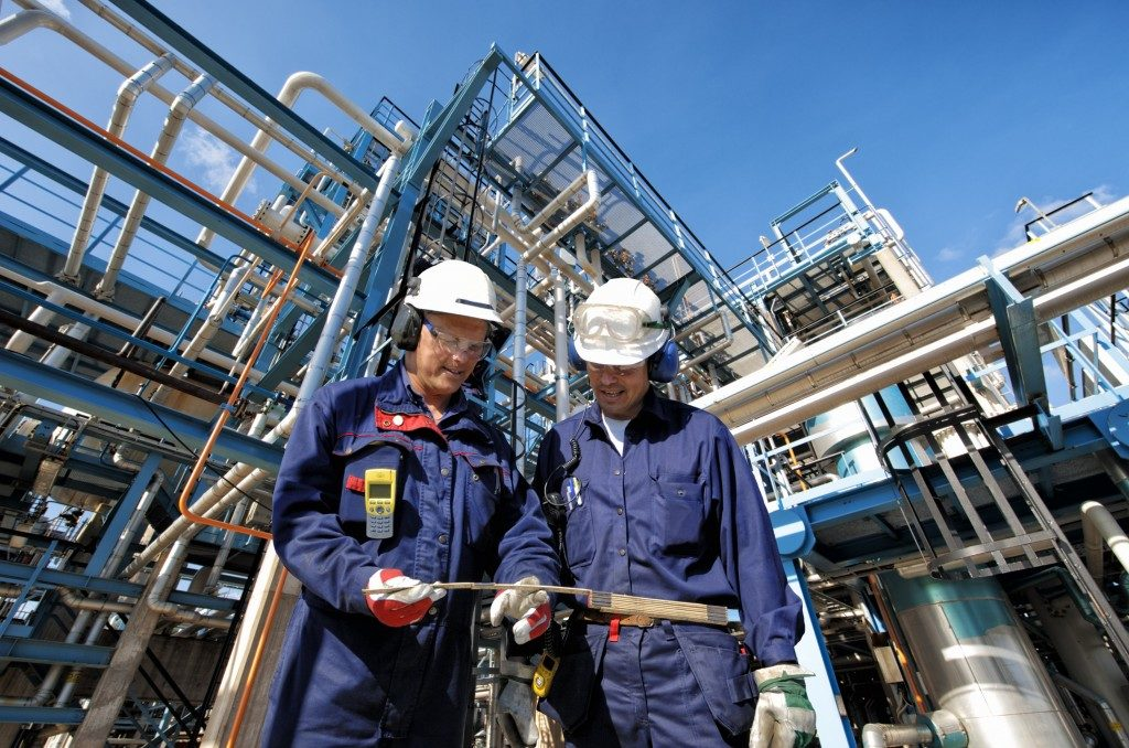 chemical treatment plant with two engineers
