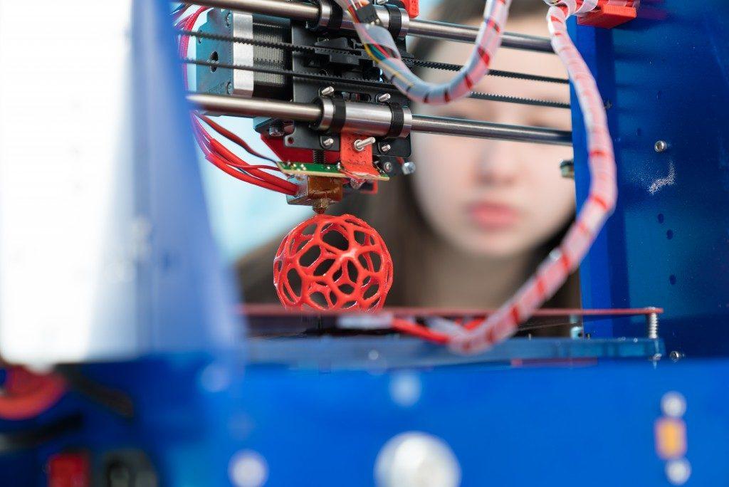 3D printing plastic model