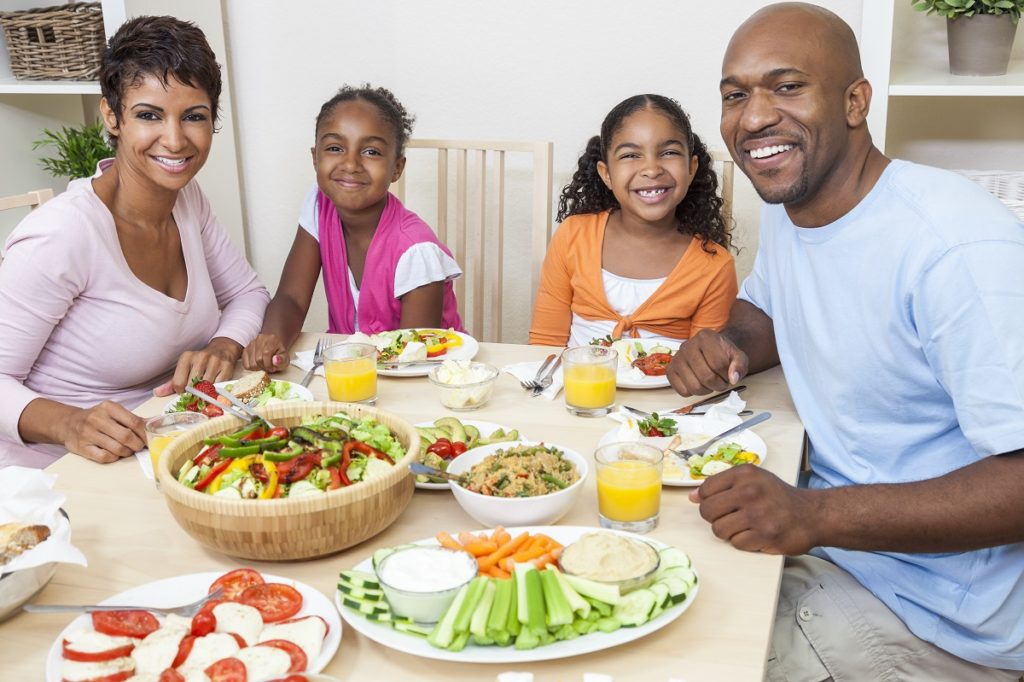 family having a healthy meal