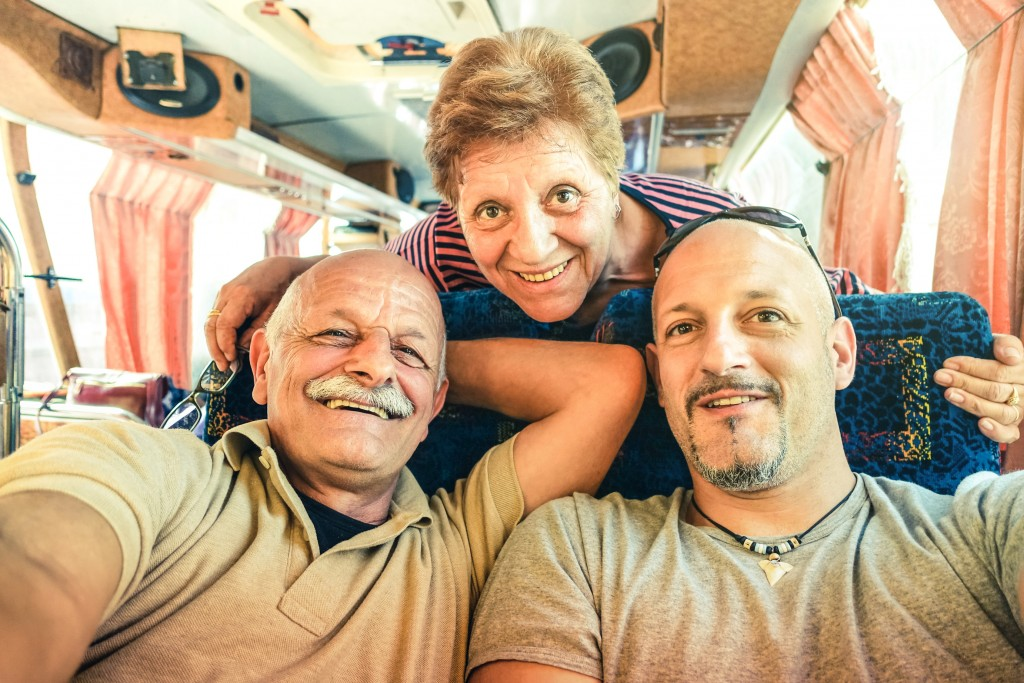family on a bus