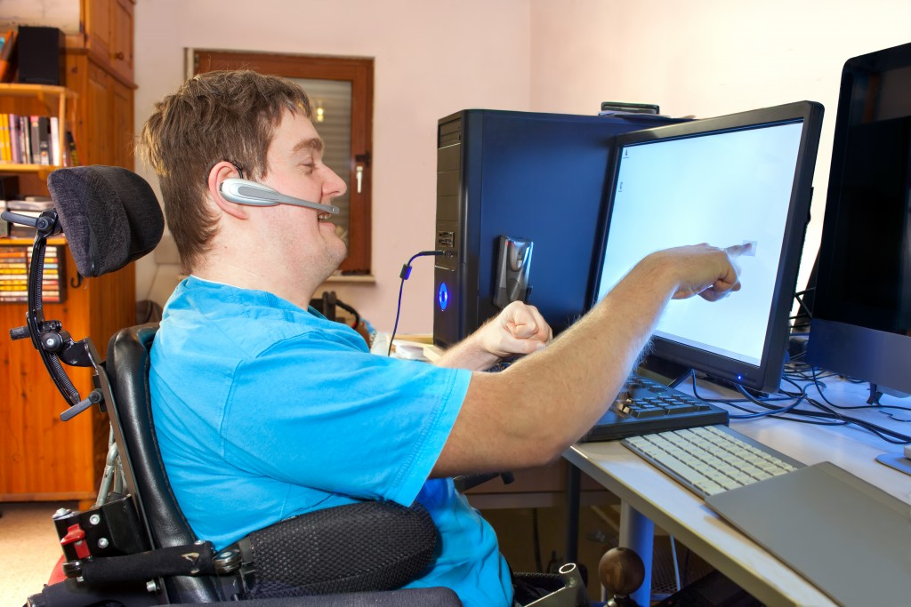 mentally disabled man working
